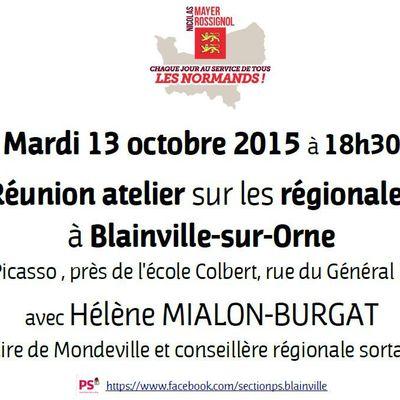 Mardi 13 octobre, atelier-débat à Blainville