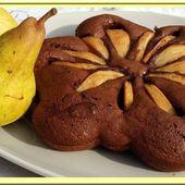 Gâteau poires et chocolat - Oh, la gourmande..
