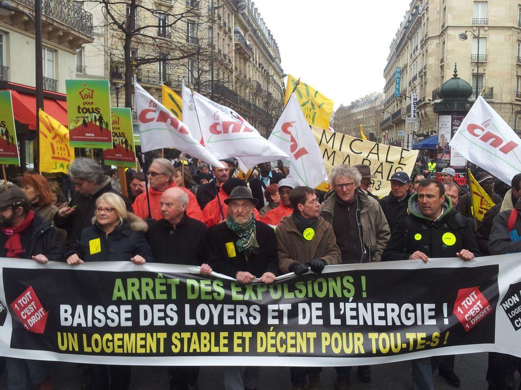 Manifestation pour l'arrêt des expulsions et pour la baisse des loyers