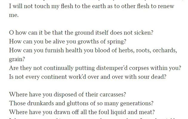 "Walt Whitman : ""This Compost"" - extrait"