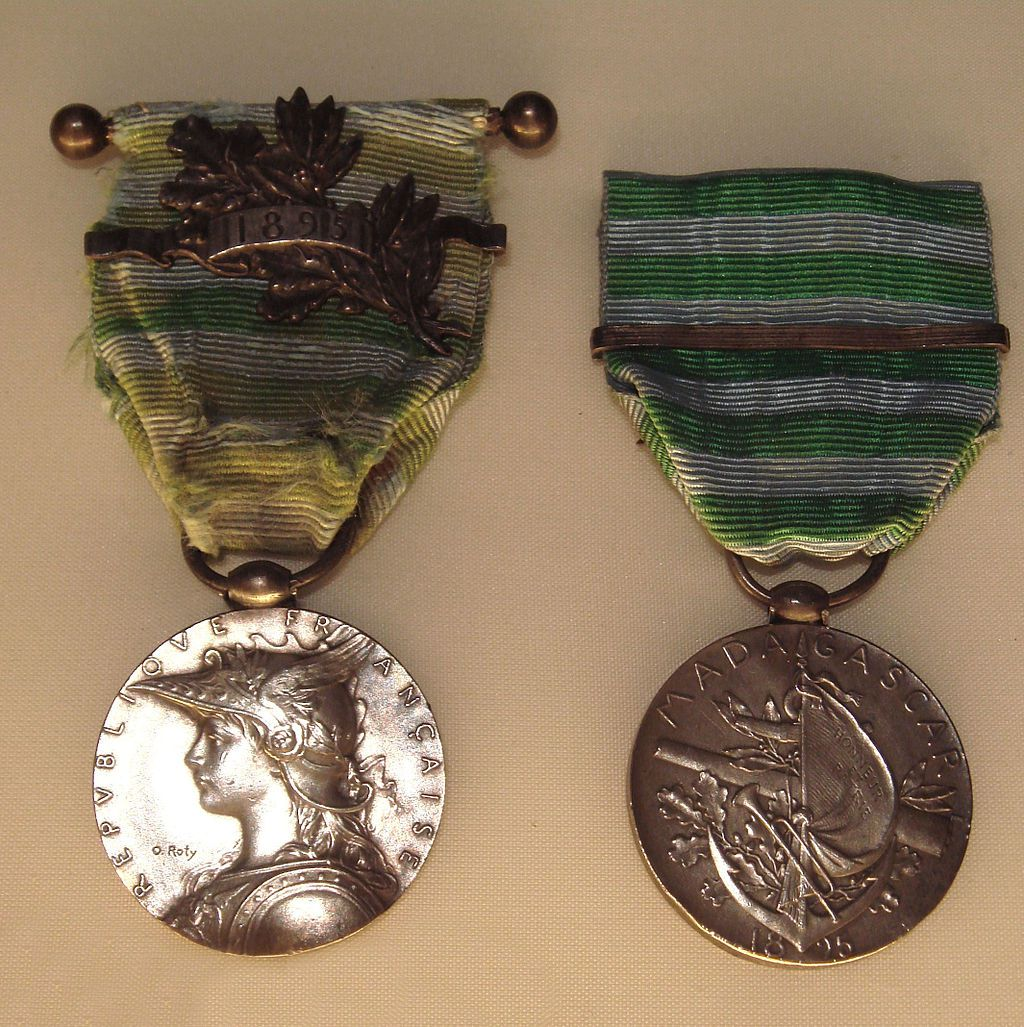 Médaille commémorative de la seconde campagne de Madagascar (photo Wikipedia).