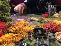"""Tour n°1, le barrage d'artillerie et des jets de dés """"Pin"""" les troupes allemandes"""