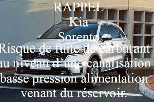 Rappel : Sorento de marque Kia