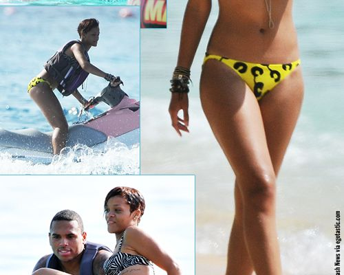 Rihanna et Chris Brown en vacances à la Barbade !