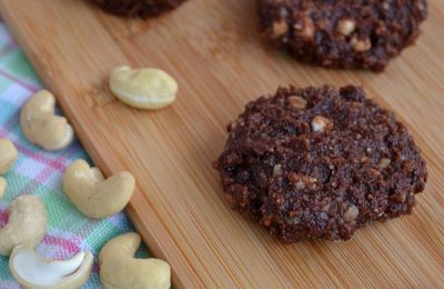 Cookies crus au chocolat {chewy}