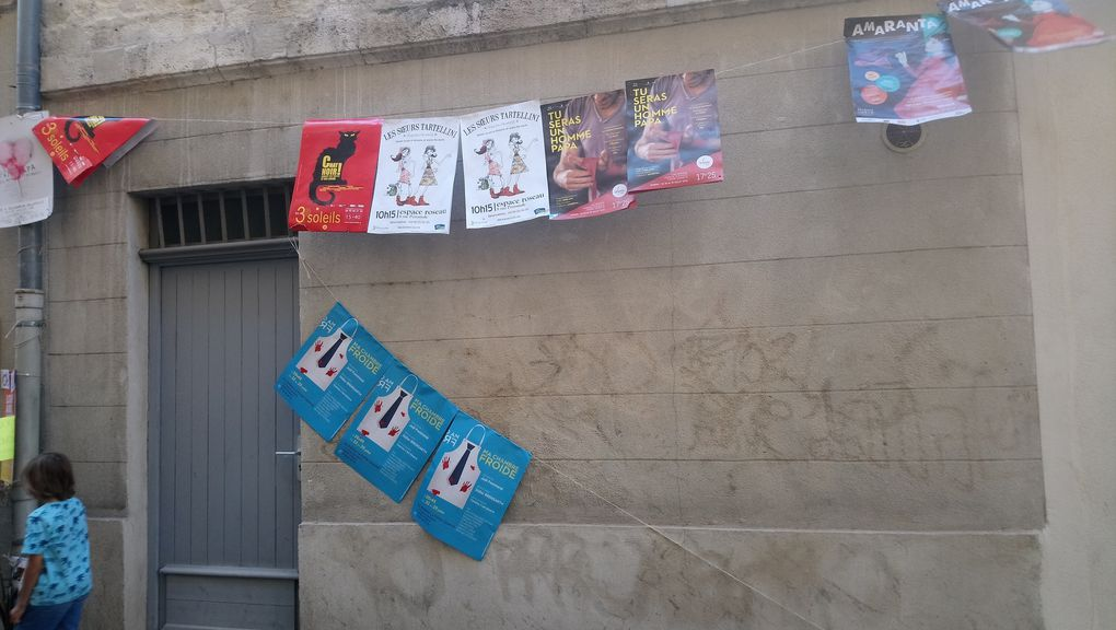 Mon premier Festival d'Avignon sur les planches
