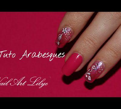 Vidéo nail art fleur et arabesques
