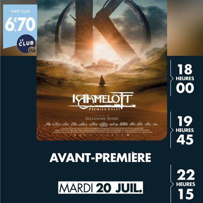 """CGR Villefranche sur saône  """"KAAMELOTT"""" sera diffusé en avant première le 20 juillet"""