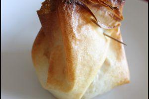 Aumônière aux poires et fromage de brebis
