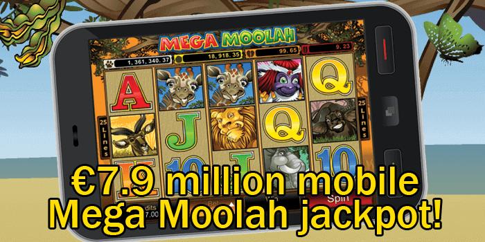 7,9 millions d'euros : le plus gros jackpot gagnant d'un jeu de casino mobile Mega Moolah