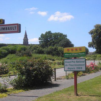 St Fraimbault Orne ,village fleuri et le plan d'eau