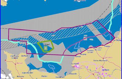 Des éoliennes au large des côtes normandes