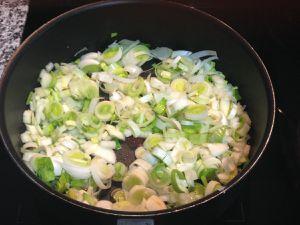 Préparation du velouté de patates douces