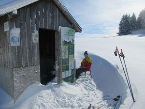 Un minuscule intermède hivernal, mais au-dessus  de 1500 m (la Sure, Autrans, refuge des Feneys)