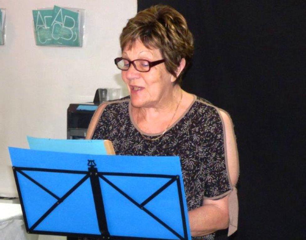 Invitées d'honneur Alice HUGO en duo au début et Paule Cordier à la fin pour l'hommage à Malou.