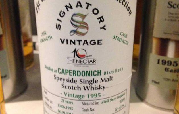 Caperdonich 21Y Signatory Vintage The Nectar 10th Anniversary.