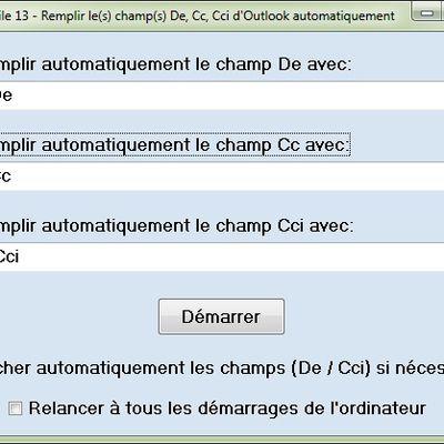 Remplir automatiquement le champ De Cc Cci d'Outlook