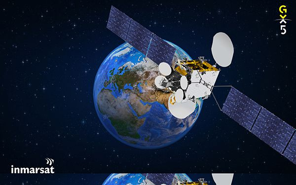 GX5 satellite and earth