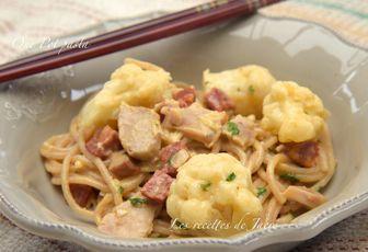One pan pasta poulet, chorizo
