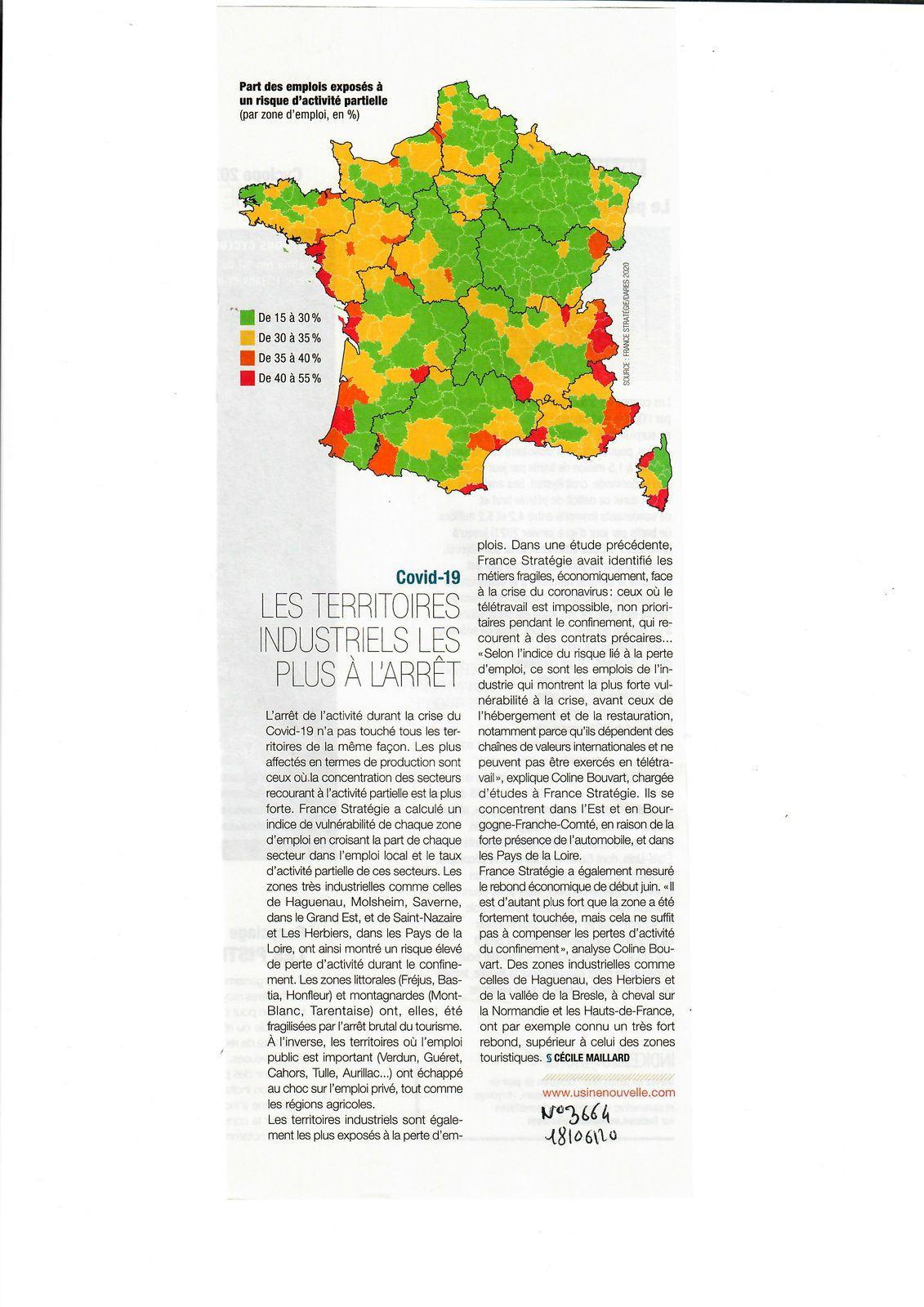 Vus et lus dans l'Usine Nouvelle n° 3664 du 18/06/20