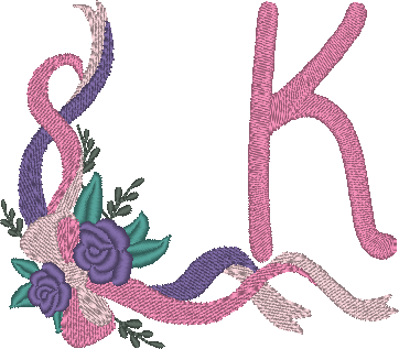 "ABC ""Rubans roses"", la lettre K"