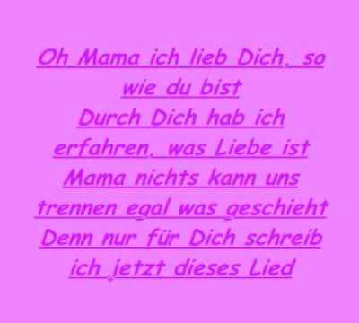 Lied für meine Mama