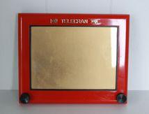 Télécran rouge Joustra Années 70 - Vintage