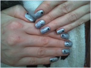 Nail art noeud à l'aquarelle sur ongles courts # 4 #....
