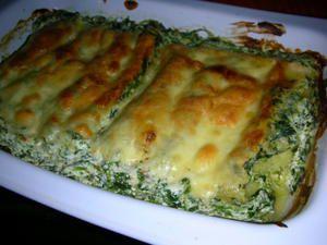 Cannelloni Epinard Ricota