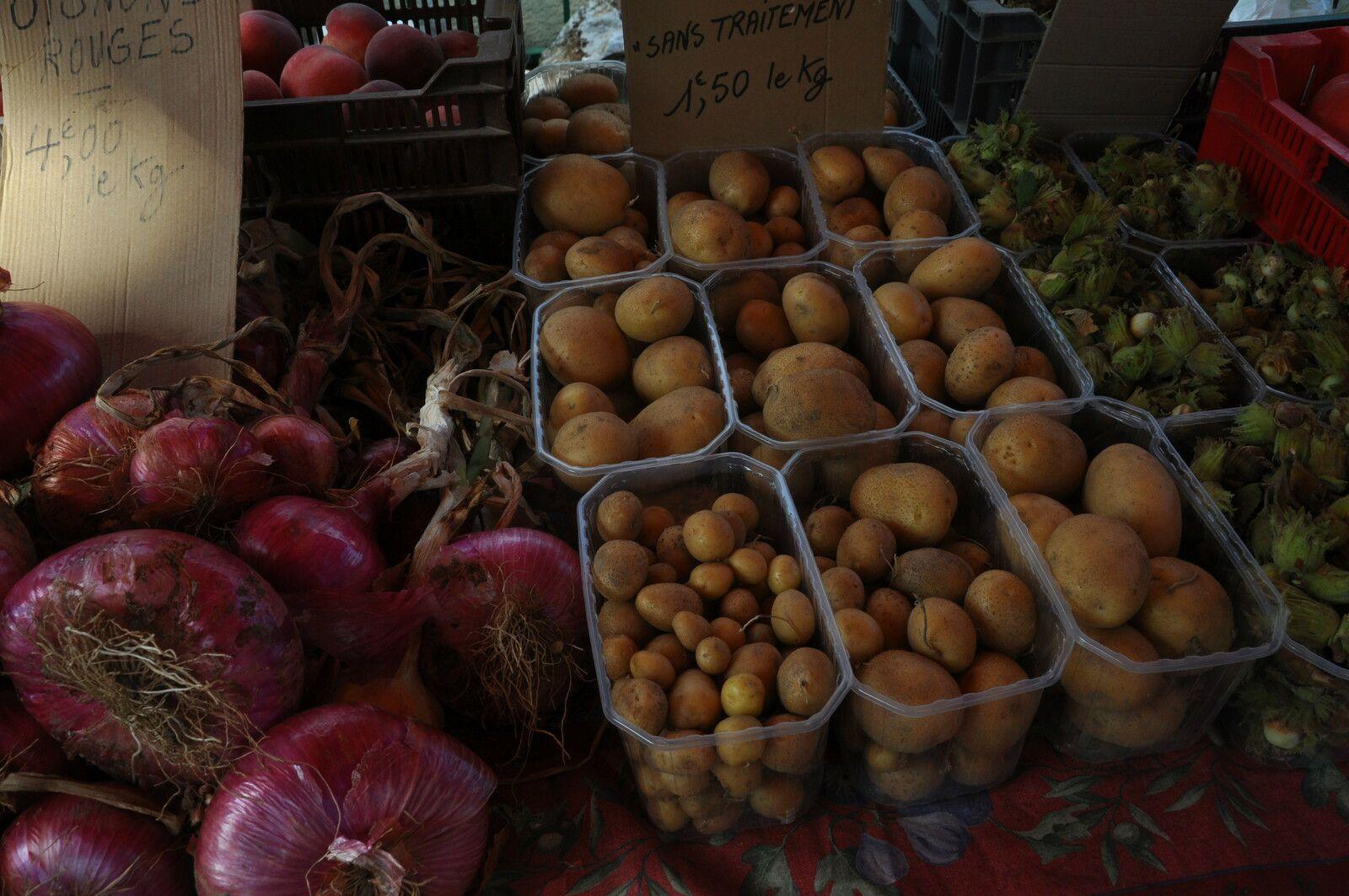Les patates du jardin.
