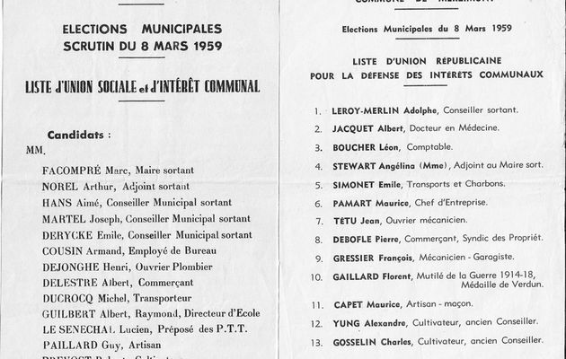 Elections municipales 1959