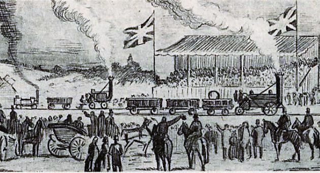 The race of steam locomotives