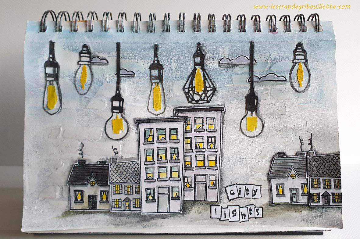 Art Journal_City Lights_Défi#43_Créablablablog