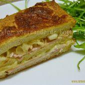 Croque cake au bacon tranches de rôti de porc à la mozzarella - Cuisine gourmande de Carmencita