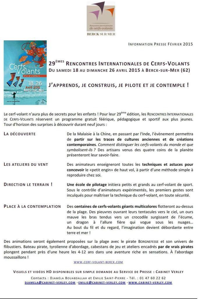 BIENTÔT...LES 29 èmes RENCONTRES INTERNATIONALES DE CERFS-VOLANTS de BERCK SUR MER...