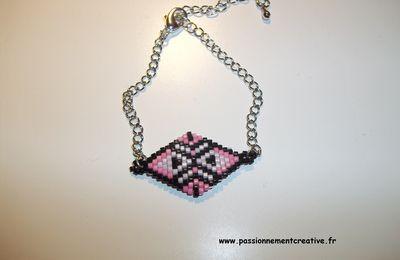 Bracelet ethnique rose