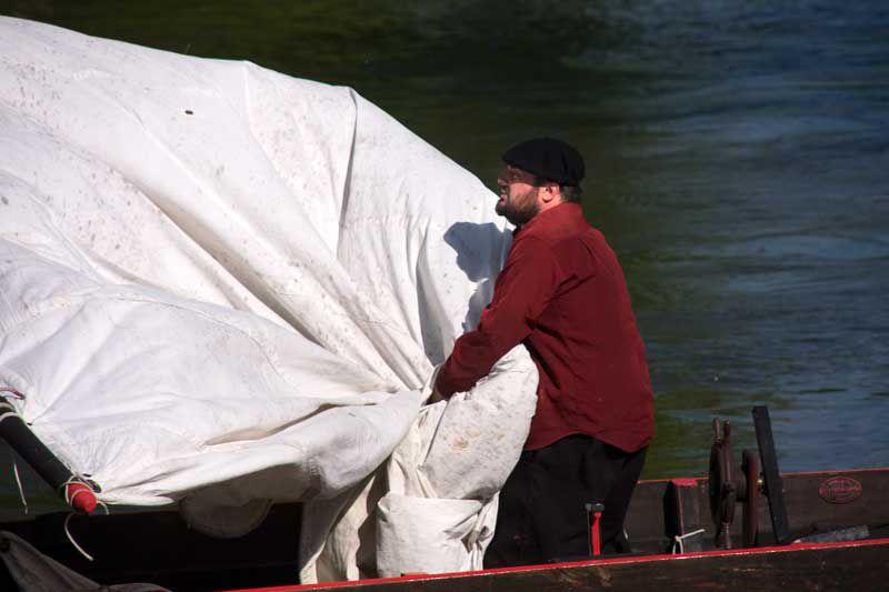 Le fûtreau amiral de la Chavannée a profité du beau temps et d'un parfait vent de galarne pour étrenner sa nouvelle voile de 50 m²
