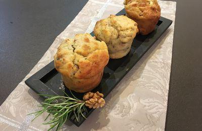 Muffins chèvre, lardons et noix
