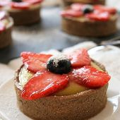 Tartelettes lemon curd / fraises { sans gluten, sans lait, sans oeufs } - Allergique Gourmand