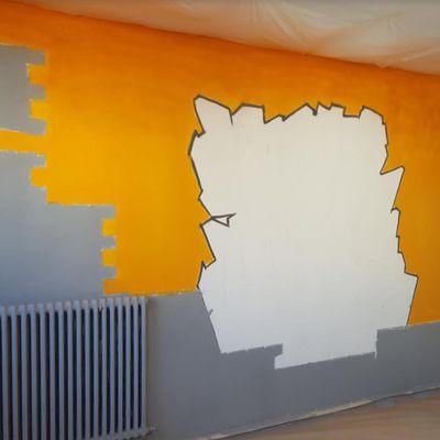 Une Fresque et des couleurs pour le CACS  Georges LACOUR