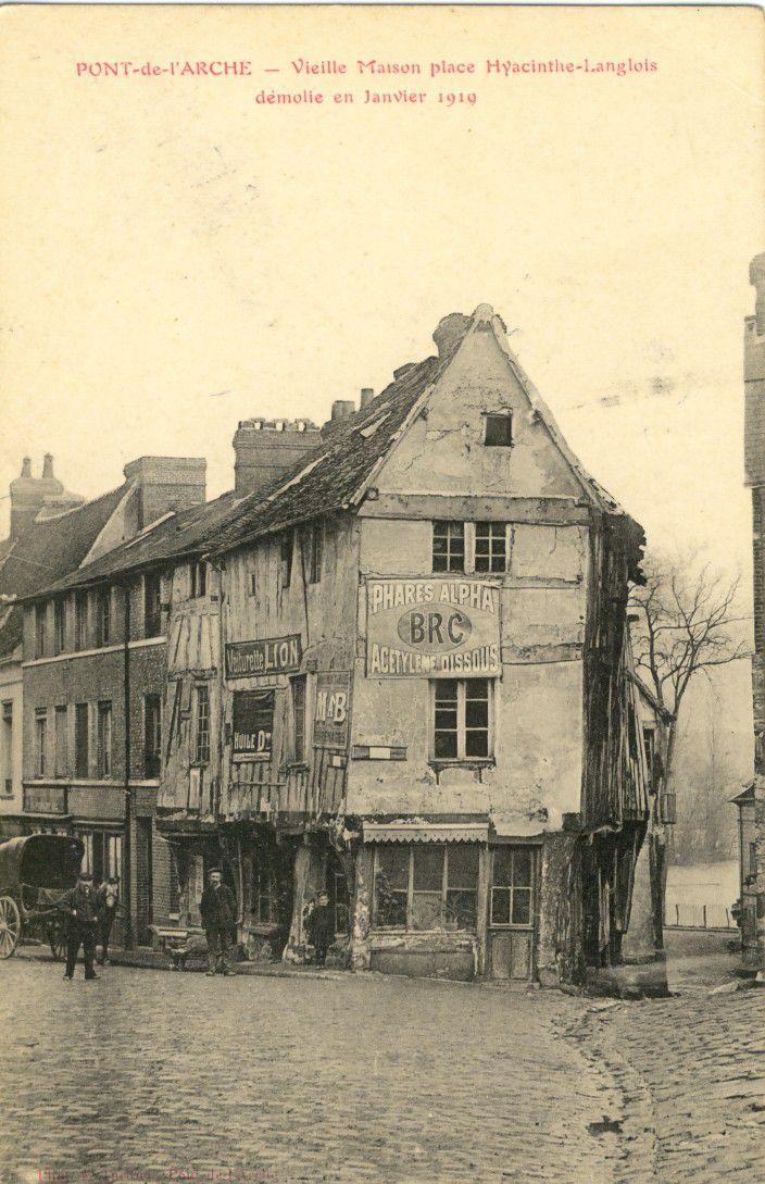 Clair de lune, Pont-de-l'Arche. Détails de l'œuvre et carte postale illustrée des années 1910.