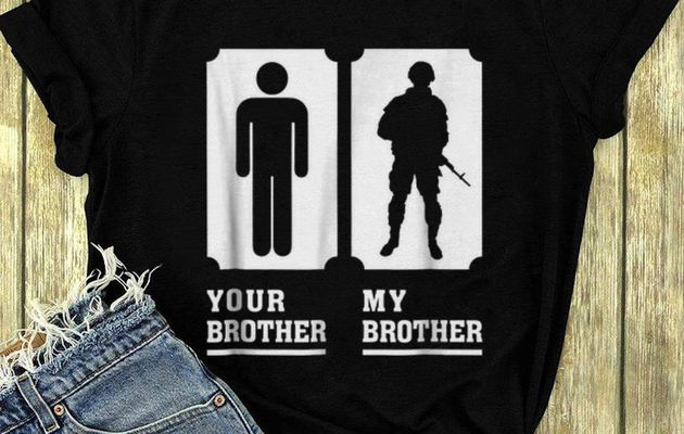 Top My Brother Is in Army Military Proud shirt