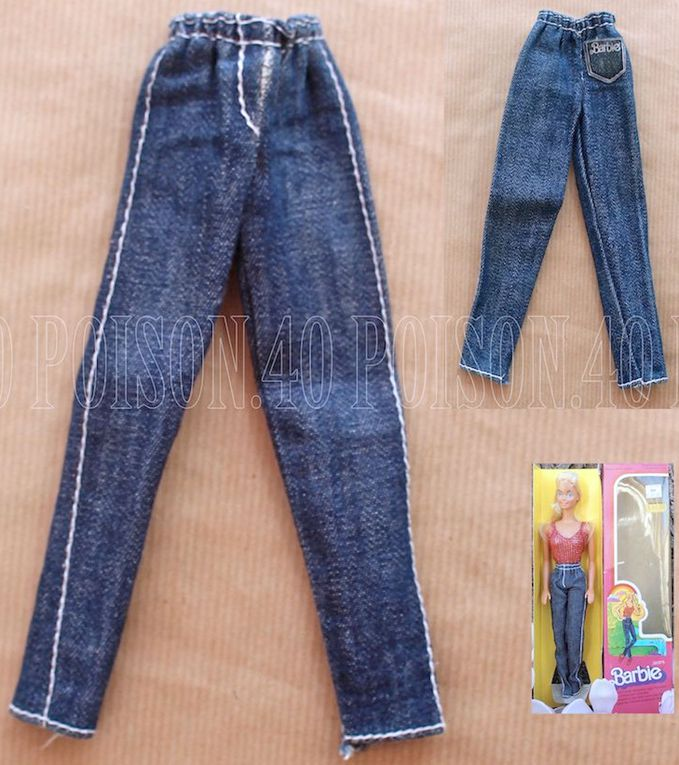 """JEANS"" BARBIE DOLL CLOTHES 1979 MATTEL #3901"