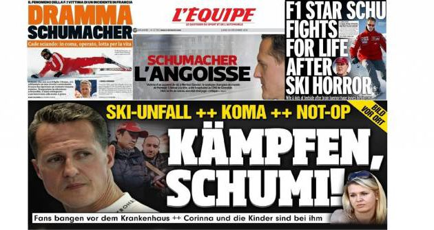 REACTIONS A L'ACCIDENT DE MICHAEL SCHUMACHER : ELLES AFFLUENT, PERSONNE N'EST INDIFFERENT
