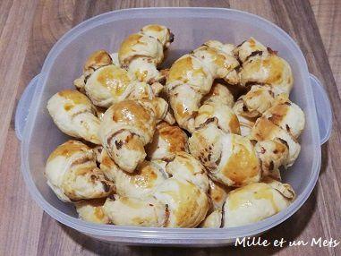 Croissants au fromage frais & saumon fumé