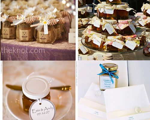 Pot de miel ou de confiture en cadeau pour invité