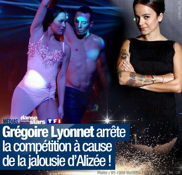 Grégoire Lyonnet arrête la compétition à cause de la jalousie d'Alizée ! #DALS