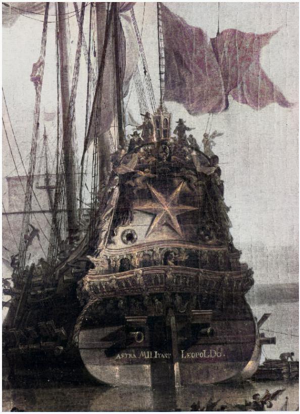 L'escadron de Dunkerque devant la forteresse de Mardijk en 1652