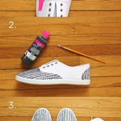 11 Ways for You to Makeover the Sneakers - Pretty Designs