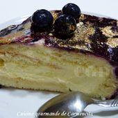 Bûche crème citron au mascarpone et coulis de myrtilles - Cuisine gourmande de Carmencita